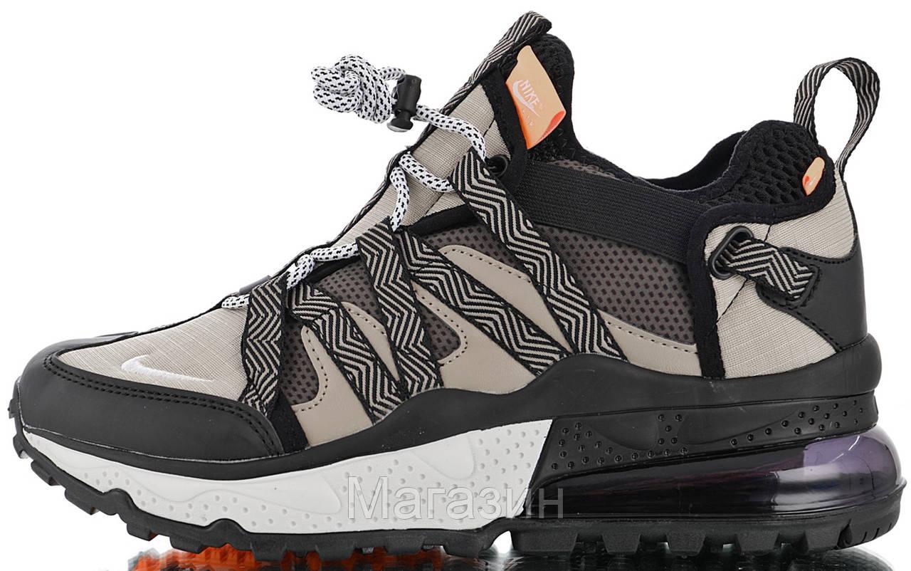 """Мужские кроссовки Nike Air Max 270 Bowfin """"Black Desert"""" AJ7200-001 (Найк Аир Макс 270) серые"""