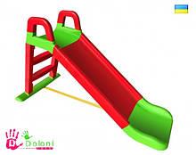 Гірка для катання дітей 0140/01 червона з зеленим Долони Doloni детская горка