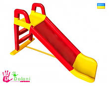 Гірка для катання дітей 0140/02 червона з жовтим Долони Doloni детская горка