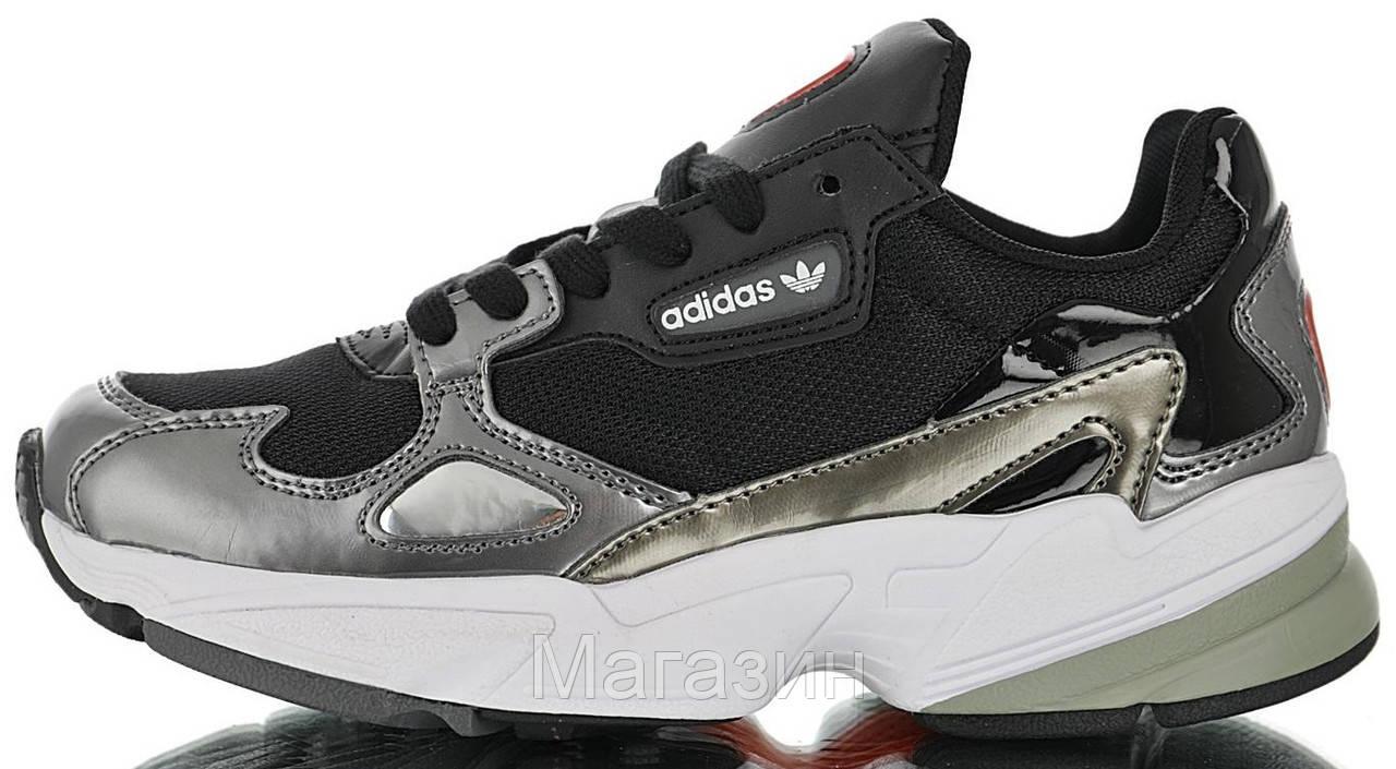 Женские кроссовки adidas Falcon Black Адидас Фалкон черные