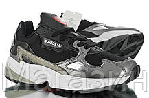 Женские кроссовки adidas Falcon Black Адидас Фалкон черные, фото 2