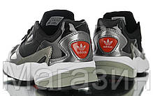 Женские кроссовки adidas Falcon Black Адидас Фалкон черные, фото 3