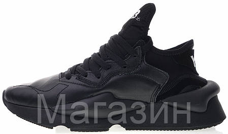 Мужские кроссовки adidas Y-3 Kaiwa Sneakers Yohji Yamamoto Black Адидас Йоджи Ямамото черные, фото 2