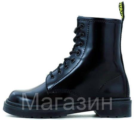 Женские ботинки Dr. Martens 1460 Black Доктор Мартинс черные БЕЗ МЕХА, фото 2
