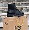Женские зимние ботинки Dr. Martens 1460 Black Smooth VEGAN Fur Доктор Мартинс С МЕХОМ черные, фото 5