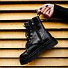 Зимние женские ботинки Dr. Martens Jadon FUR Mono Black Доктор Мартинс Жадон черные С МЕХОМ, фото 6
