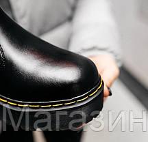 Зимние женские ботинки Dr. Martens Platform Chelsea Boot Black Доктор Мартинс Челси черные С МЕХОМ, фото 2