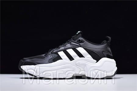 Мужские кроссовки Naked x adidas Magmur Runner Consortium Black Aдидас черные, фото 2
