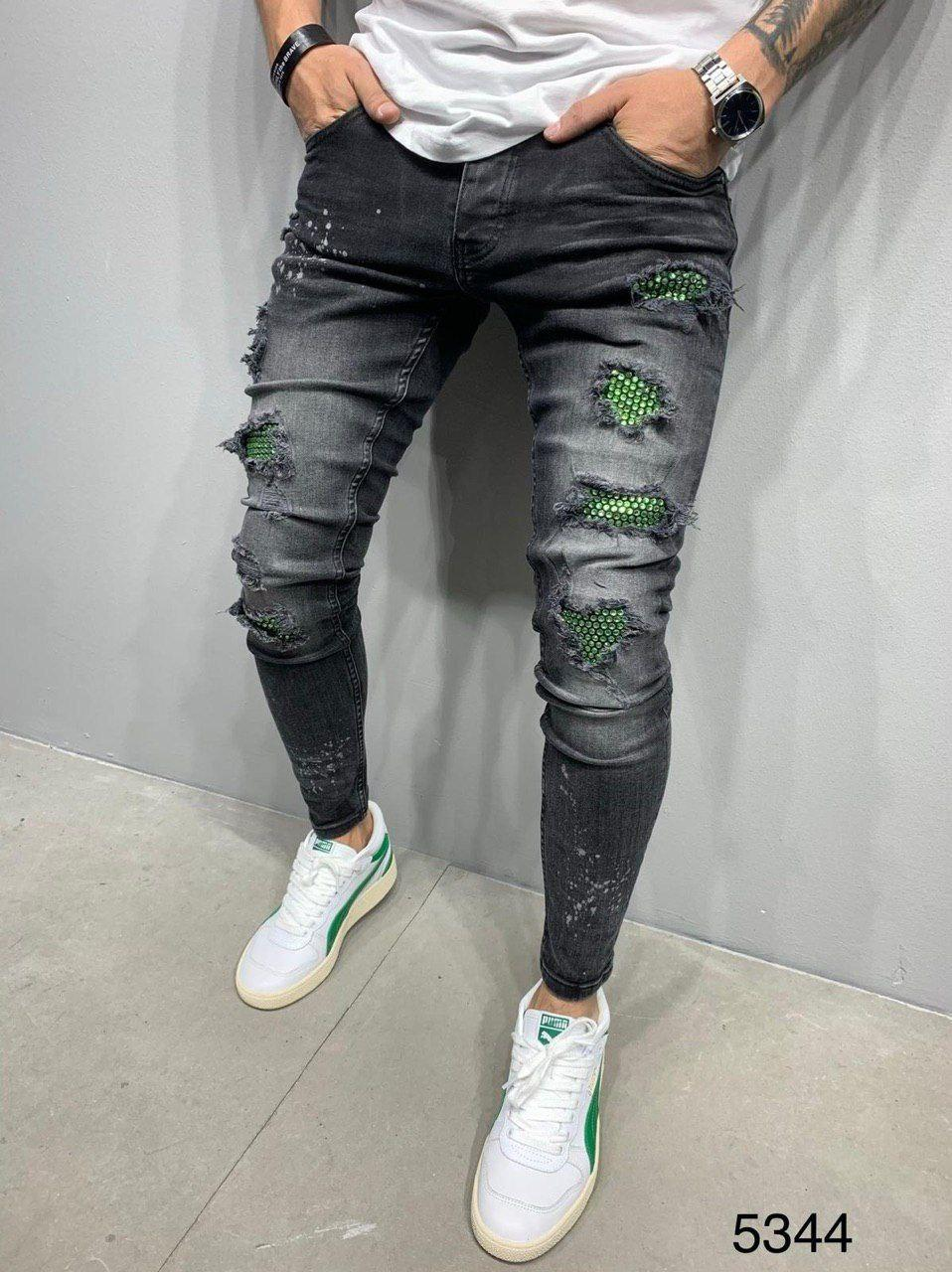 Мужские джинсы серые 2Y Premium 5344
