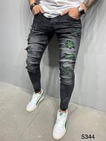 Чоловічі джинси сірі 2Y Premium 5344, фото 1
