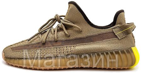 """Женские кроссовки adidas Yeezy Boost 350 V2 """"Earth"""" (Адидас Изи Буст 350) бежевые, фото 2"""