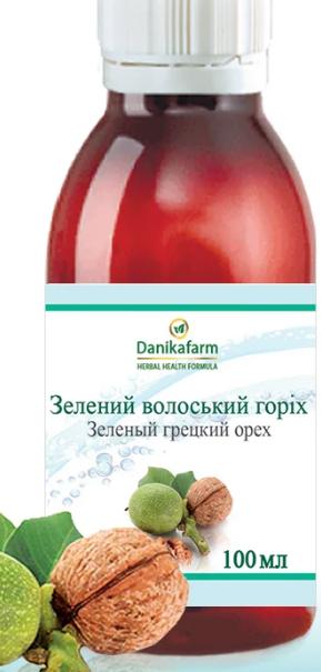 Зелёный Грецкий Орех  100.0 г