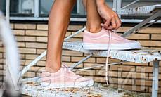 Женские кеды Vans Old Skool Suede/Woven Trainers Peachskin Ванс розовые, фото 3