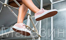 Женские кеды Vans Old Skool Suede/Woven Trainers Peachskin Ванс розовые, фото 2