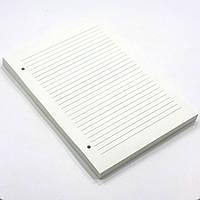 Блок бумаги в линию для блокнота формата А5. Линованая бумага формата А5