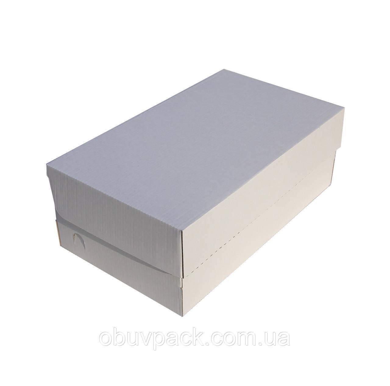 Коробка обувная белая 344х184х120 Мужской туфель малый