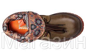 Женские ботинки Timberland Roll-Top Bandits Khaki Тимберленды хаки, фото 2