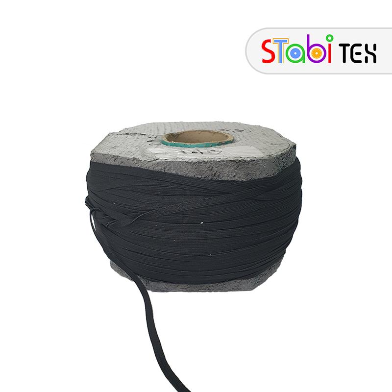 Резинка швейная плоская 7мм (400м/боб) Черный
