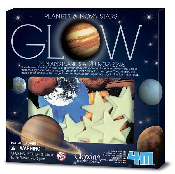 Игровой набор 4M Светящиеся наклейки Планеты и 20 звезд (00-05635)