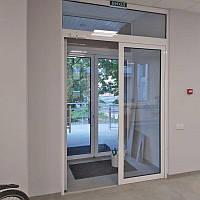 Алюминиевые двери и  входные группы из профильной системы Текно днепровского завода «Алюмаш»