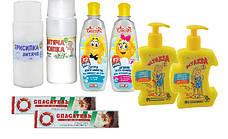 Косметические средства для детей: крем, присыпка, шампунь, мыло. Антисептики и дезифекторы.