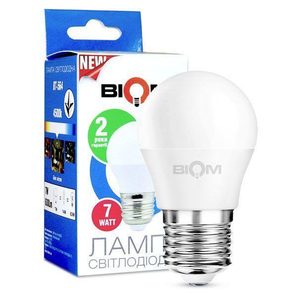 Светодиодная лампа G45 6W E27 4500К  BT-564 Biom матовая