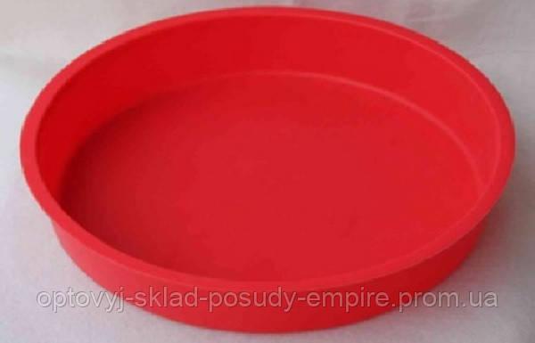 Форма для выпечки торта силиконовая круглая 25,5x4 см Vincent VC-1473