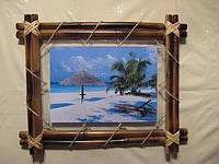 Фото -рамка из бамбука  20х30 (верёвочка)