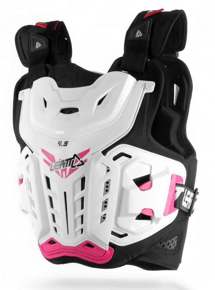 Панцирь кроссовый женский LEATT Chest Protector 4.5 Jacki White Pink