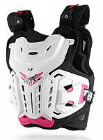 Панцирь кроссовый женский LEATT Chest Protector 4.5 Jacki White Pink, фото 1