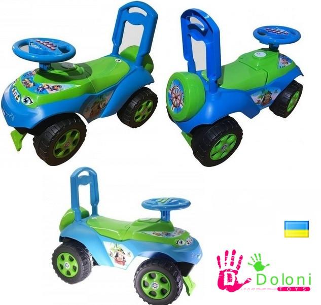 Каталка Машина 0141 салатова голуба толокар Долоні машинка для катання. pro