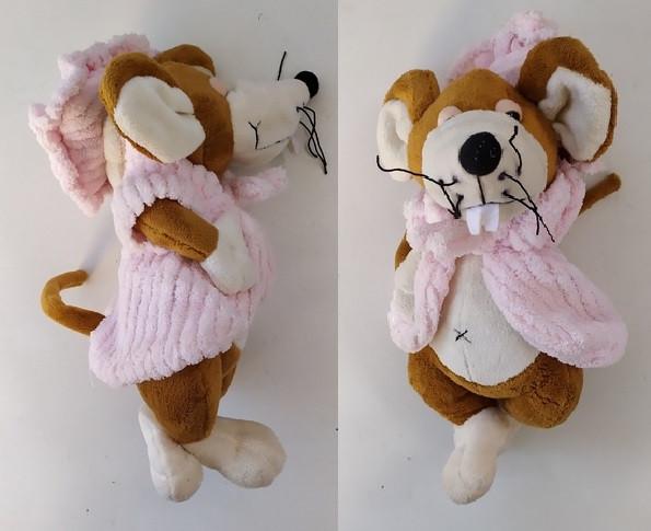 Мягкая игрушка Мышка в халате 28см. pro