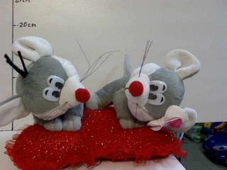 М'яка іграшка Мишка на серце сплять муз.. pro