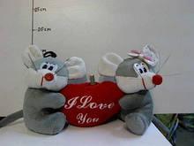 Мягкая игрушка Мышки с сердцем. pro
