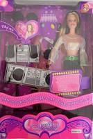 Кукла типа Барби 61-182 Диджей микрофон, гитара. pro