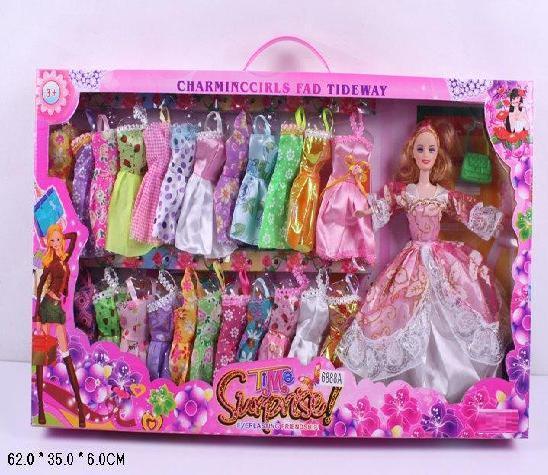 Кукла типа Барби 6888А Гардероб коробка. pro