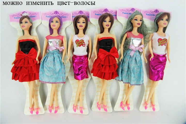 Кукла типа Барби 8583-2 меняет цвет волос. pro