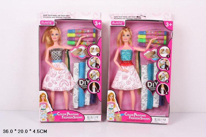 Кукла типа Барби 901 Модельер на шарнирах короб.. pro