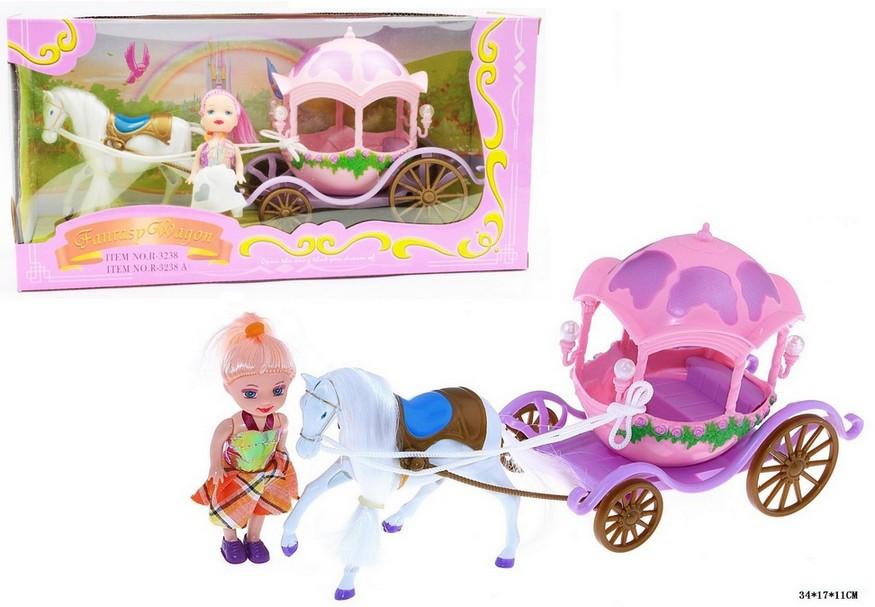 Карета с лошадкой 3238A, кукла. pro