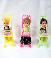 Кукла маленькая в коляске. pro