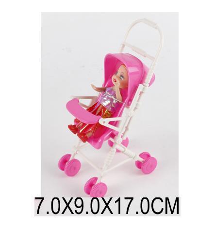 Кукла маленькая с коляской 666-21. pro