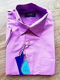 Дитяча сорочка з коротким рукавом Ніжно-фіолетова від 29 до 36 см, фото 2