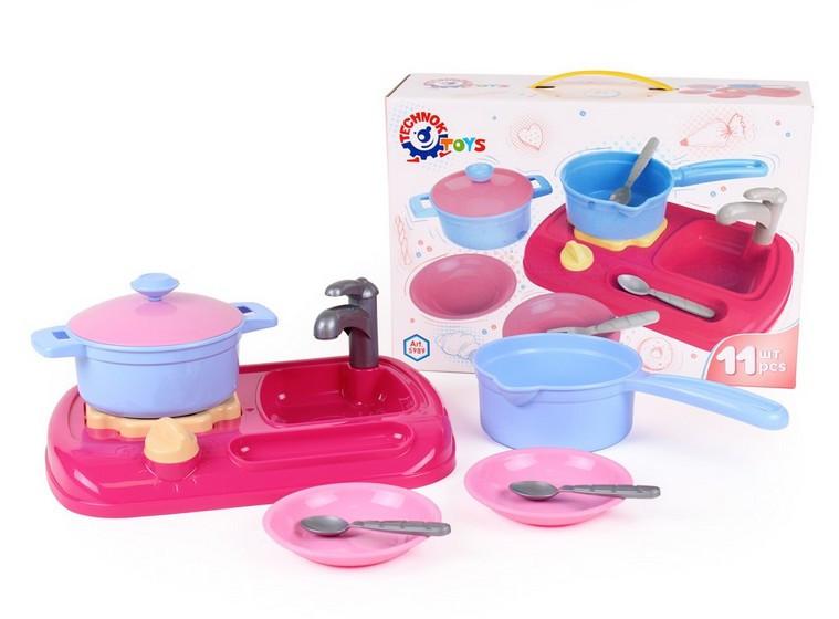 Кухня з набором посуду в коробці ТехноК 5989. pro