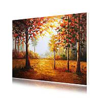 """Картина по номерам Lesko PH-9521 """"Осенний лес"""" 40-50см набор для творчества живопись"""
