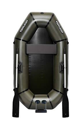 Човен надувний ПВХ Лисичанка F210TU полутораместная з транцем і кочетами, фото 2