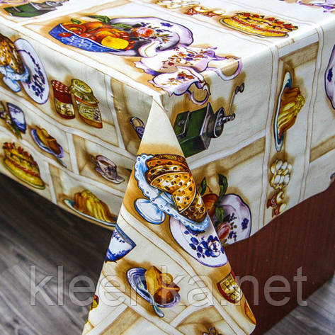Клеенка ПВХ на кухонный стол в рулонах на отрез, фото 2