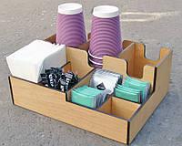 Органайзер Барный ЧАЙНЫЙ (4 вида чая и стаканы) СВЕТЛЫЙ | Era Creative Wood