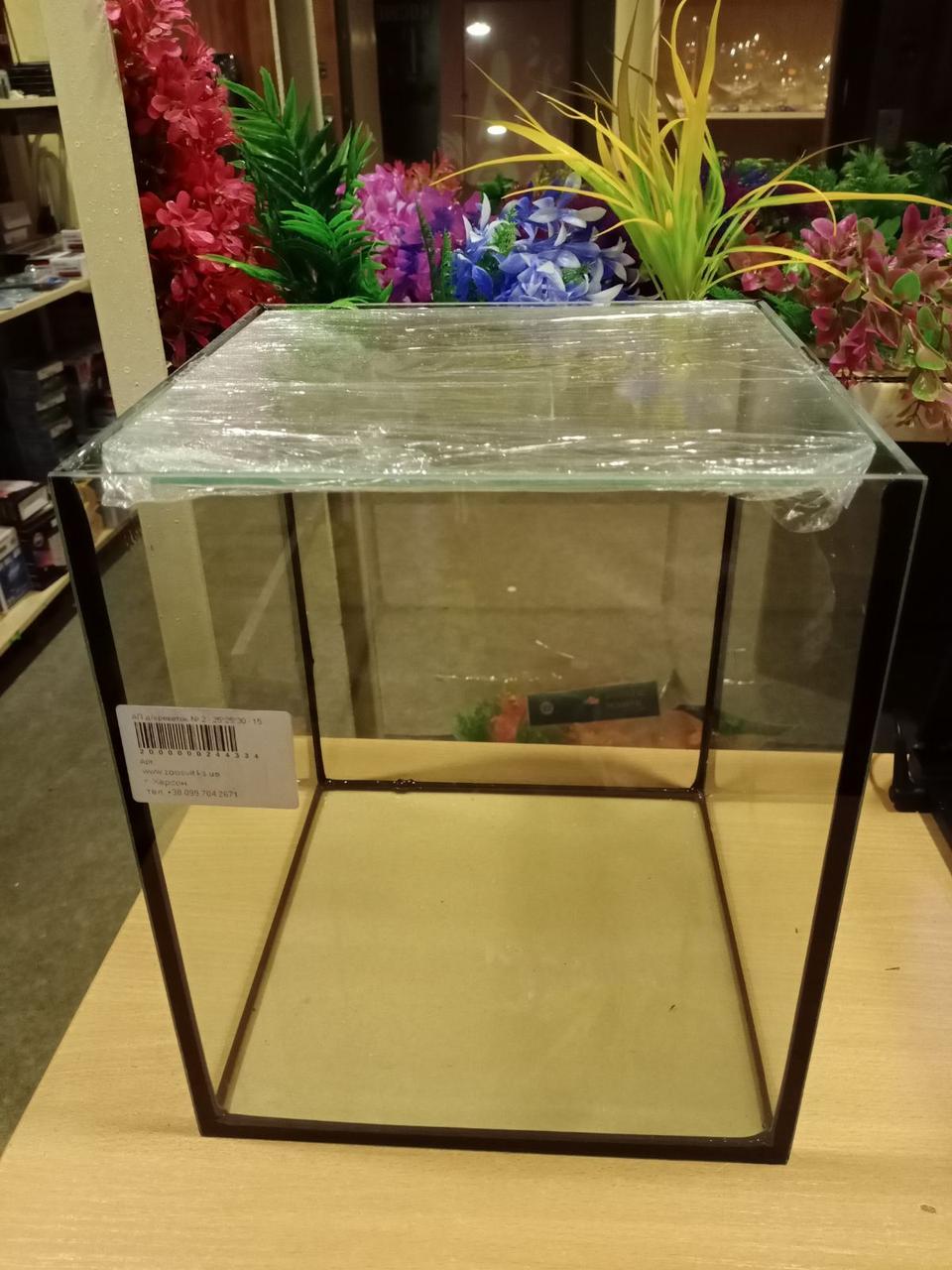 Креветочник, аквариум для петушка 25*25*30 (15 л) 4 мм