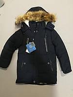 Зимняя темно-синяя подростковая курточка  для мальчика Рост 140, 146, 158, 164, фото 1