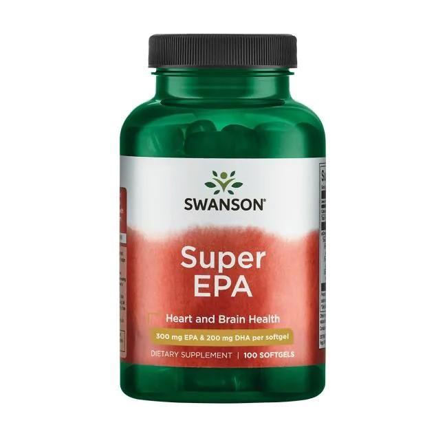 Swanson EFAs Super EPA Fish Oil EPA 300, DHA 200 в каждой капсуле 120 ЖК